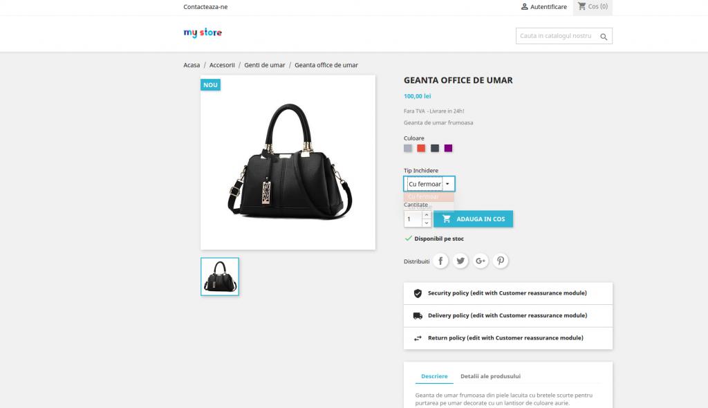 verificare atribute pe produs in front-office - prestashop 1.7
