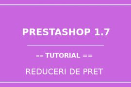 Reduceri de pret - Prestashop-1.7